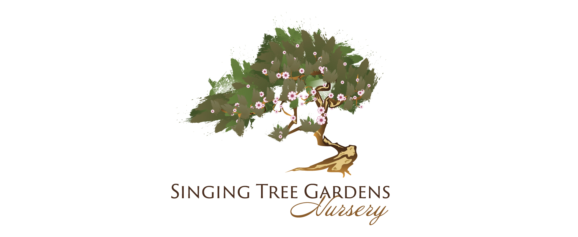 Image showcasing Singing Tree Gardens Logo