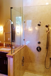 Shower door picture from Redwood Glass and Windows